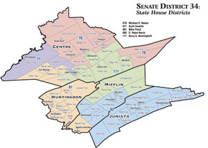 SD 34 State House Districts