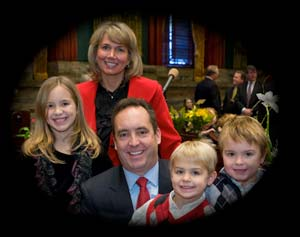 Senator Corman and Family