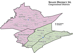 SD 34 Congressional Districts